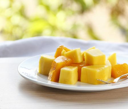 Fruit dessert with mango. photo