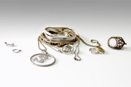 accesories: The Difference Silver and Accesories. Stock Photo