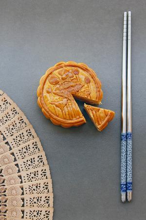 mooncake, 중국어 가을 축제 음식 중반입니다.