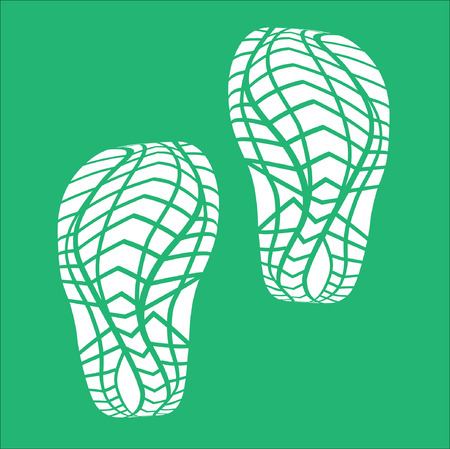 and soles: White Baby Imprint soles shoes. Illustration
