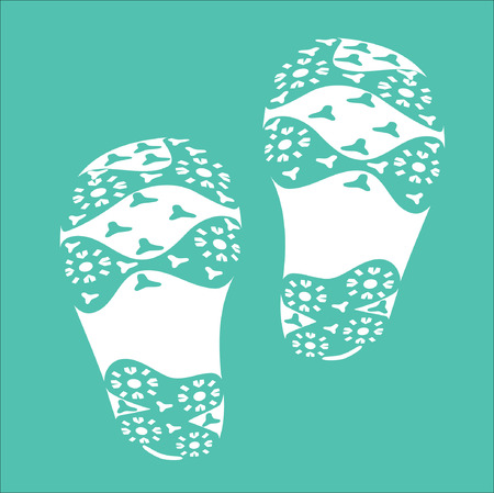 fare: White Baby Imprint soles shoes. Illustration