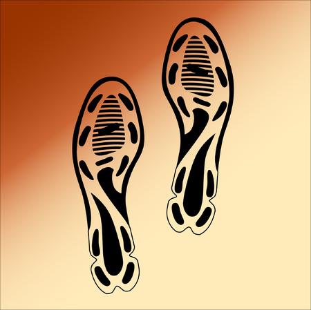 Schwarz Impressum Sohlen Schuhe, Illustration
