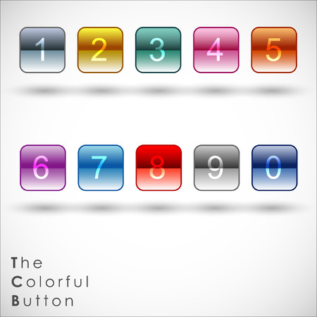 Colored Application Icons for Mobile Phones and Tablets with Numneric.Illustration Vector