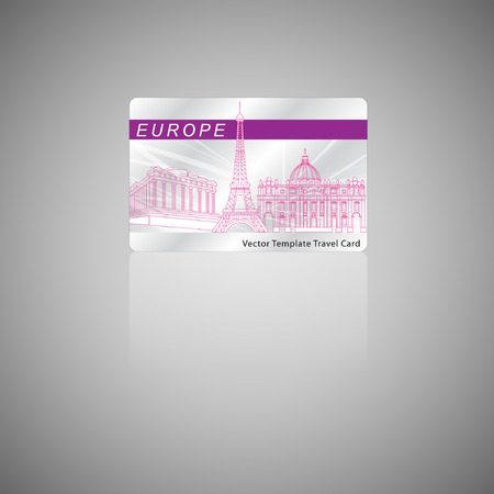 sand asia: Card Design Template. Travel concept. Illustration