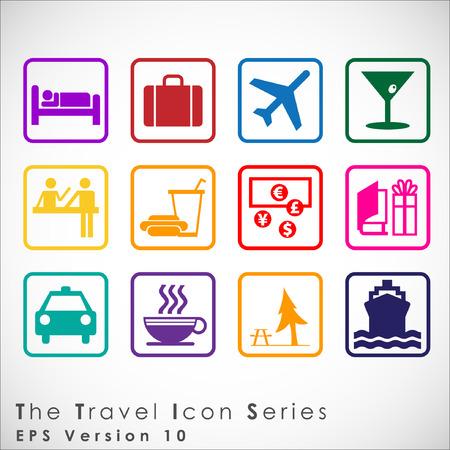 여행 및 관광 아이콘을 설정합니다. Simplus 시리즈. 삽화 일러스트