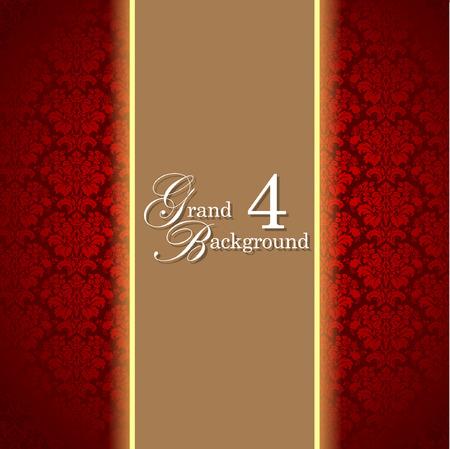 Template frame design for grand greeting card. Illustration Vector