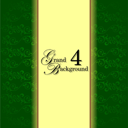 baby grand: Template frame design for grand greeting card. Illustration