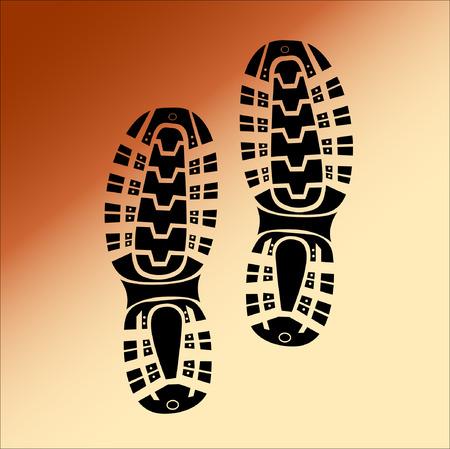 Black Imprint soles shoes, Illustration Illustration