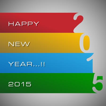hooray: Abstract of Happy New Year 2015. Illustration