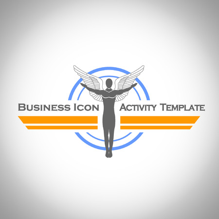 organize: Abstract Icon template. Marketing and organize activity icon.Illustration