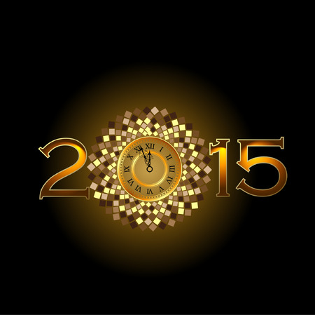 Abstract of Happy New Year 2015. Illustration Vector