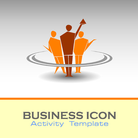 iconillustration: Abstract Icon template. Marketing and organize activity icon.Illustration