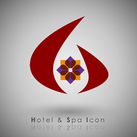 tending: Abstract Icon template.Hotel and Resort Concept. Illustration Illustration
