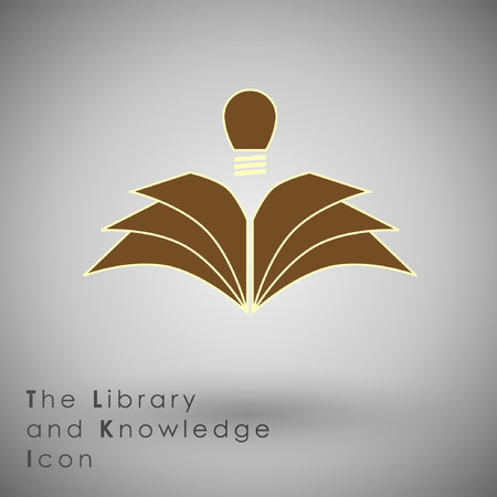 knowledge concept: Abstract Icon template.Education and Knowledge Concept. Illustration Illustration