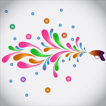 Abstract background Songkran Festival: The Water Splash Festival.Illustration