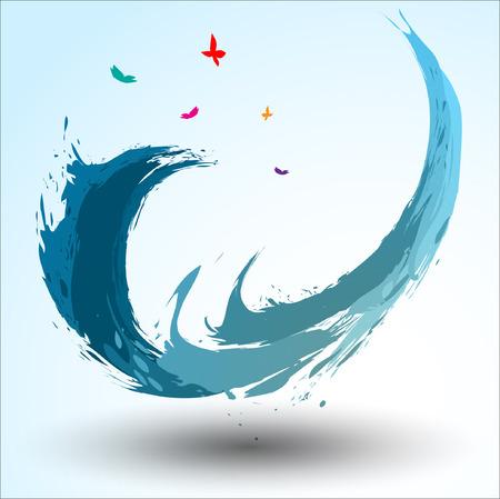 Abstract background Songkran Festival: The Water Splash Festival.Illustration Illusztráció