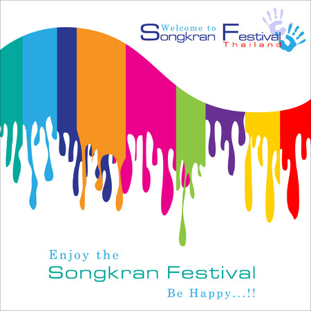 Abstract background Songkran Festival: The Water Splash Festival.Illustration Illustration