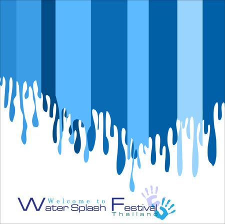 songkran: Abstract background Songkran Festival: The Water Splash Festival.Illustration Illustration