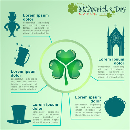 Abstrackt of St.Patricks Day, Background Design, Illustration Vector
