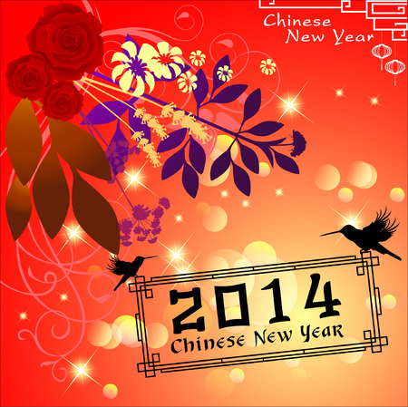 traditonal: Abstract chinese new year graphic and background. Illustration Illustration