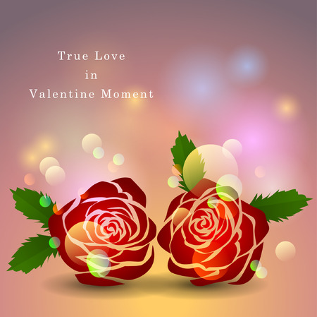 Abstract background of Valentines day. Background Template. Illustration Vector