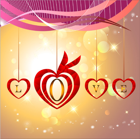 serenade: Abstract background of Valentines day. Background Template. Illustration