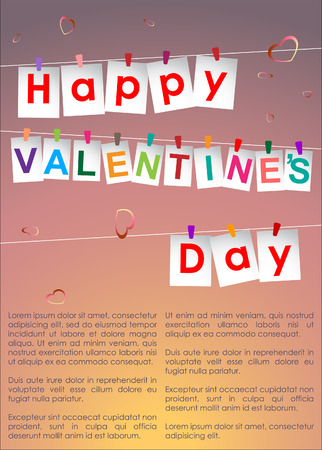 serenade: Abstract background of Valentines day. Background Template. Illustration, EPS 10