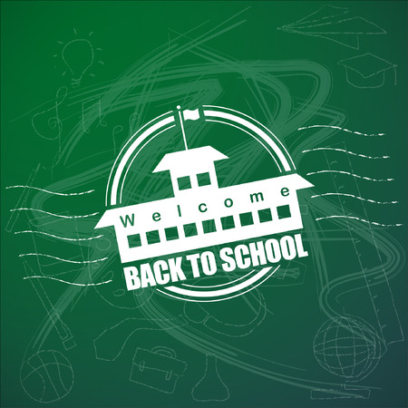 sciences: Welcome back to school Vector Background. Illustration