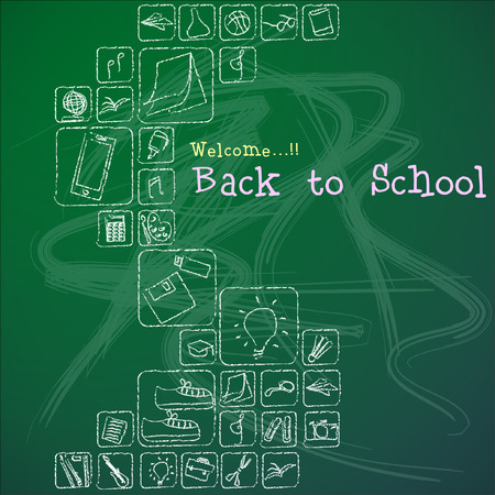 Welcome back to school Vector Background. Illustration