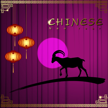 lamplight: Abstract chinese new year graphic and background. Illustration Illustration