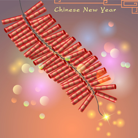fa: Abstract chinese new year graphic and background. Illustration Illustration