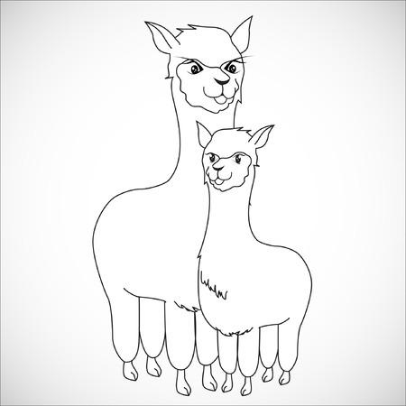 nursing mother: Nursing Animal Cartoon.Illustration, EPS 10