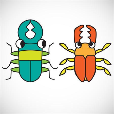nursing mother: Pareja de gusanos. Ilustraci�n, EPS 10.