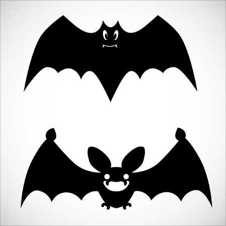 cling: Couple of Bat Shadows. Illustration, EPS 10. Illustration