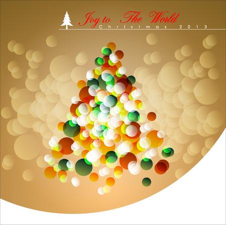santa s bag: Abstract Christmas Background. Christmas Tree Concept. Illustration, EPS 10