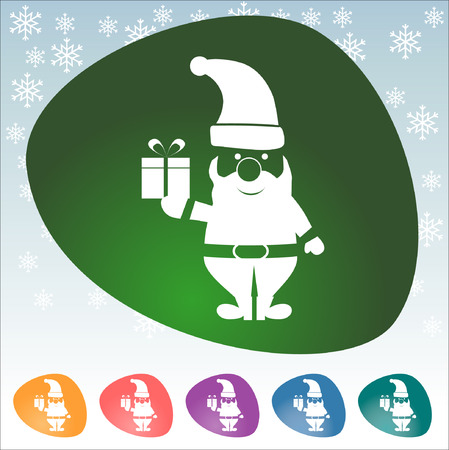 santa s bag: Astract of Christmas, Icon Concept, illustration eps 10 Illustration