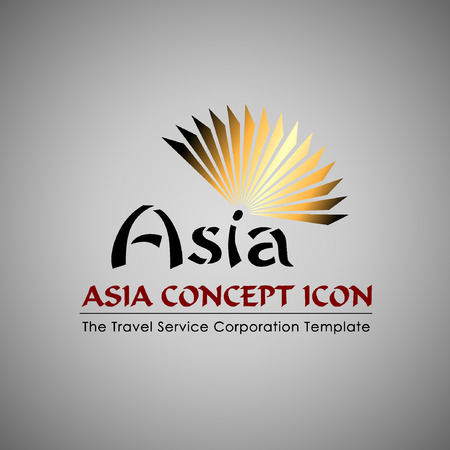 iconillustration: Abstract Icon template. Asia concept. Tourism and travel icon.Illustration, EPS 10 Illustration