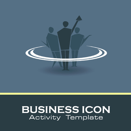 tending: Abstract Icon template. Marketing and organize activity icon.Illustration, EPS 10