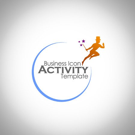 iconillustration: Abstract Icon template. Marketing and organize activity icon.Illustration, EPS 10