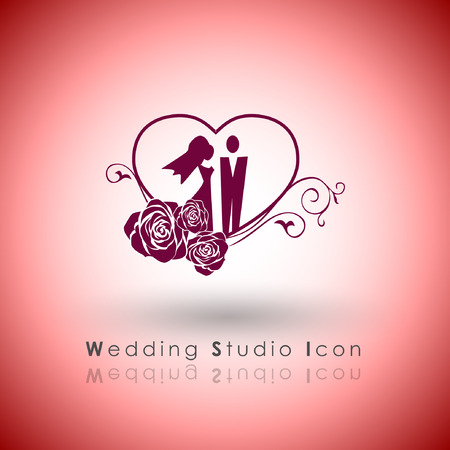 tending: Abstract Icon template.Vanletine and Wedding Concept. Illustration, EPS 10