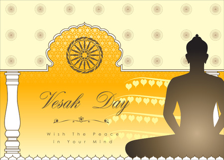 srilanka: Abstract of Vesak Day, The Meditation Day of The World. Vector and Illustration, EPS 10.