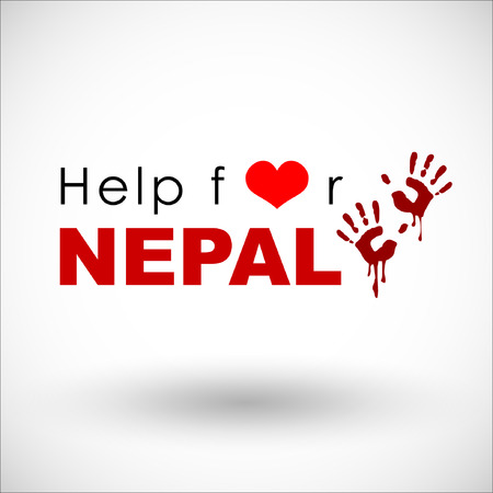 quake: Help and Donation for NEPAL Earthquaked 2015. Vector and illustration. EPS 10