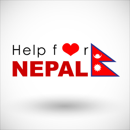 environmental disaster: Help and Donation for NEPAL Earthquaked 2015. Vector and illustration. EPS 10