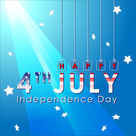 Abstract Happy 4th of July, Memorial Independence Day. Vector and Illustration,