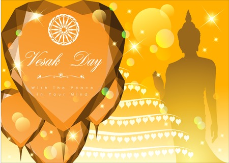 srilanka: Abstract of Vesak Day, The Meditation Day of The World. Vector and Illustration, .
