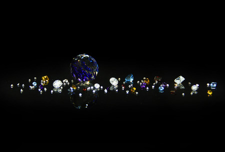 The Difference of Colorful Gem Standard-Bild