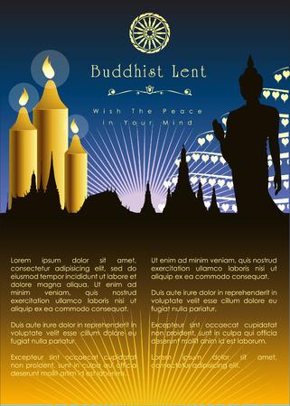 Buddhist Lent Artwork Template.