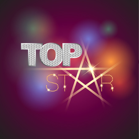 organize: Top Star Icon. Abstract Icon template. Marketing, organize and entertainment activity icon. Vector and Illustration Illustration