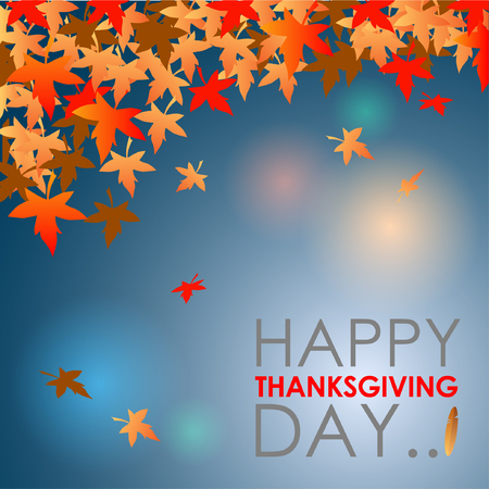Abstract of Happy Thanksgiving Day. Vector background. Illustration Illustration
