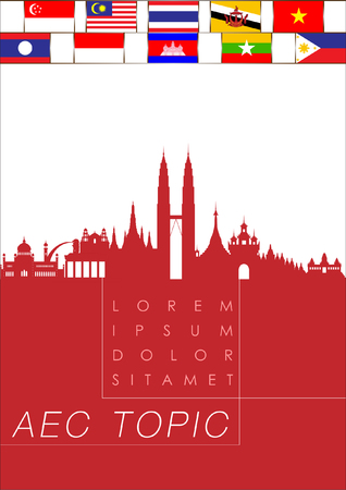 asean: Abstract of Asean Economic Community, AEC. Vector and Illustration, EPS 10. Illustration